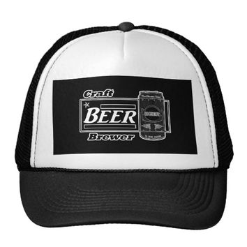 Craft Beer Brewer - Black & White Can 2 Trucker Hat