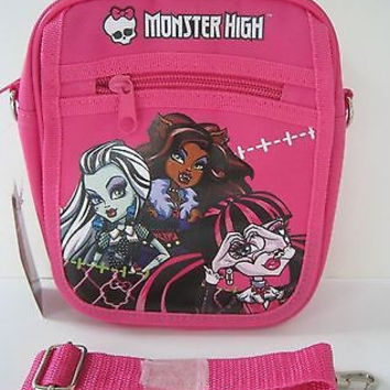 Monster High Ghoulishly Pink Messenger Bag Purse Goth Punk Psychobilly Bag-New!