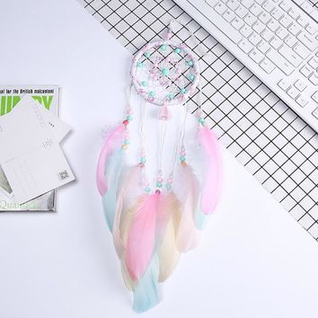Flying Wind Chimes Dream Catcher Handmade Gifts Dreamcatcher Feather Pendant Creative Hollow Wind Chimes Wall Hanging Decoration