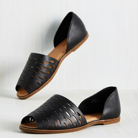 Bold, Italics, and Underline Flat | Mod Retro Vintage Flats | ModCloth.com