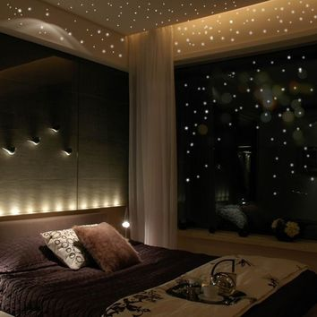 Removable Glow In The Dark Star Wall Stickers 252 Dots And Moon Sky