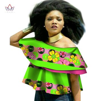 women african clothing plus size traditional o-neck african print clothing