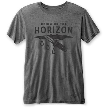 Bring Me The Horizon Men's  Wound Vintage T-shirt Charcoal