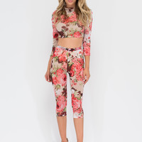 Perennial Party Crop Top 'N Leggings Set