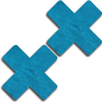 Glitter Solid Cross Pasties (More Colors)