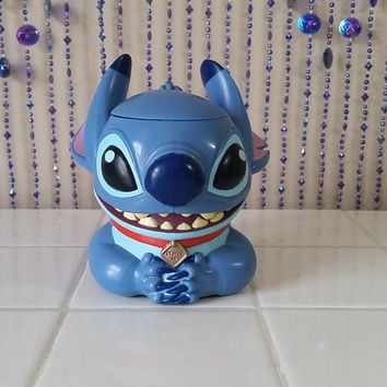 Disney On Ice Lilo & Stitch Alien SOUVENIR Mug Collector Flip Top Character Cup Hinged Vintage Mug 00s