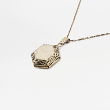 Hexagon Locket Necklace | Urban Outfitters