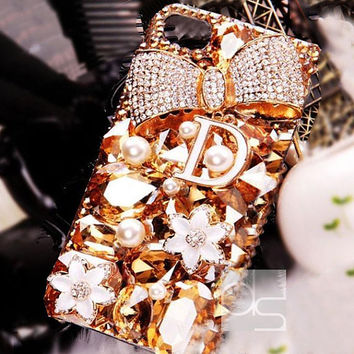 iPhone 5 Case for iPhone 5S Case iPhone 5C Case iPhone 3G Case iPhone 4 Case iPhone 4S Bling Case iPhone 3 Case iPhone 3S Case Gold Ribbon