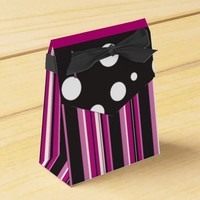 Pink Stripes and Polka Dots Favor Box