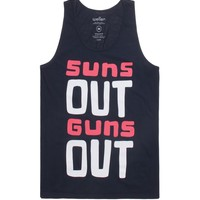 Wellen Suns Out Guns Out Tank Top - Mens Tee - Blue -