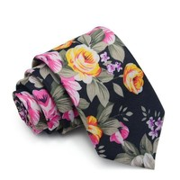 Men's Leisure Collection Skinny Ties - 6 Colors & Styles