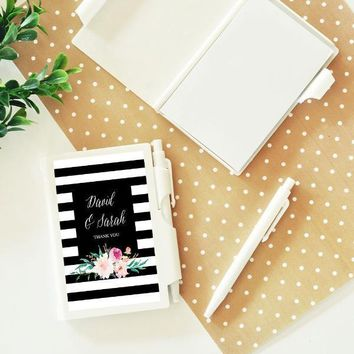 Personalized Floral Garden Notebook Favors (Set of 24)