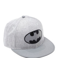 DC Comics Batman Grey Silver Reflective Logo Snapback Hat
