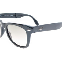 Ray-Ban RB 4105 Folding Wayfarer 601/32 Black Sunglasses