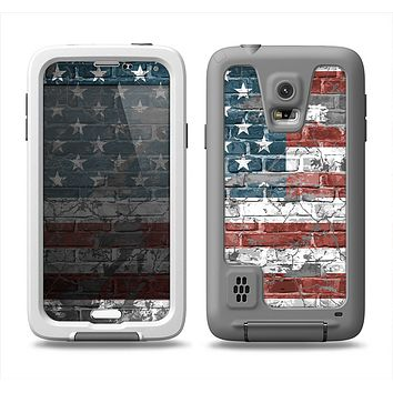 The Vintage USA Flag Samsung Galaxy S5 LifeProof Fre Case Skin Set