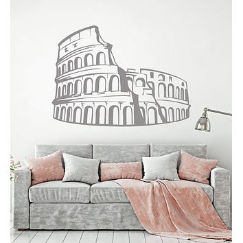 Vinyl Wall Decal Coliseum Ancient Rome Italy Travel Amphitheatre Stickers Unique Gift (1534ig)