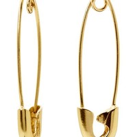 Banana Republic Safety Pin Earring Size One Size - Gold