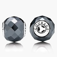 Women's PANDORA 'Essence - Courage' Charm - Sterling Silver/ Hematite