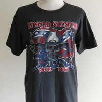 Lynyrd Skynyrd Shirt Tour 1987 American Rock Band Country Rock Hard Rock -- Tee Shirt Women T-Shirt Men T-Shirt Black T-Shirt Size M