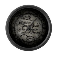 Dream Within A Dream Large Wall Clock by opheliasart- 458688630