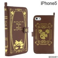 Disney Character Old Book Case for iPhone 5 (Mickey & Minnie)
