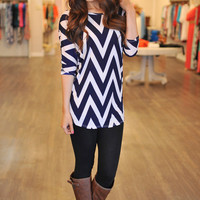 Chevron Tunic- Navy