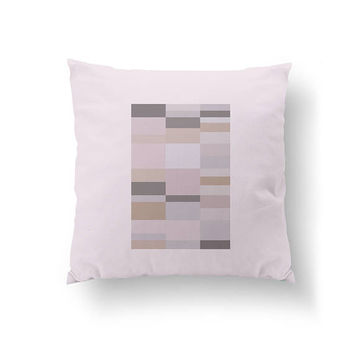 Pink Gray Shapes, Decorative Pillow, Subdued Colors, Geometric Pattern, Cushion Cover, Rose Pillow, Home Decor, Throw Pillow, Abstract Art