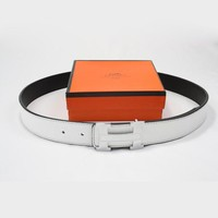 Perfect Hermes Woman Men Fashion Smooth Buckle Belt Leather Belt