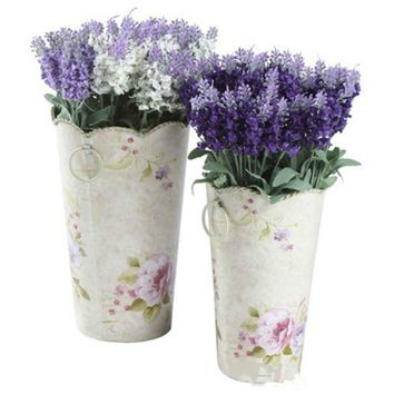 10 Heads Artificial Lavender Silk Flower Bouquet Wedding Home Party Decor for Display Spring Vivid Leaf Real touch Fake flowers