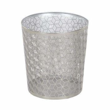 Well Made Waste Can In Silver