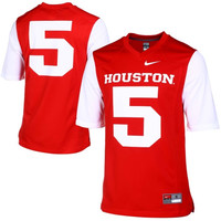 Houston Cougars Nike Game Replica Football Jersey – Scarlet