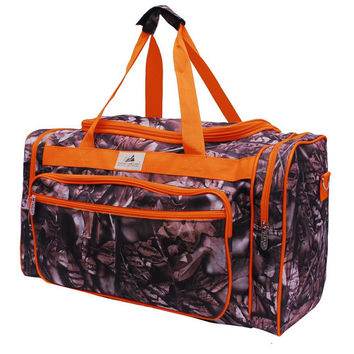 Monogrammed  Woods Camo Duffle - Lots of Colors