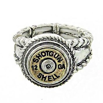 Gold Western Shell Ring