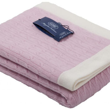 GOBI Mongolian Cashmere Baby Blanket in Baby Pink 39 x 39 inches