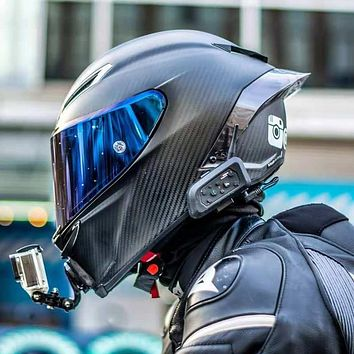 Carbon Painting Full Face Motorcycle Helmet
