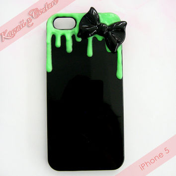 MADE TO ORDER Glowing Green Decoden iPhone 4 4S 5 Phone Case