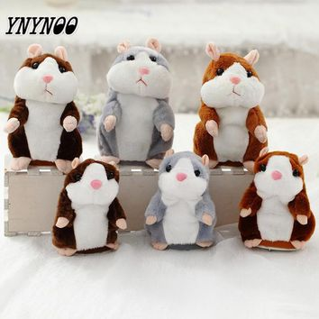 YNYNOO 2017 Talking Hamster Mouse Pet Plush Toy Hot Cute Sound Record Hamster Educational Toy for Kids Christmas Gift