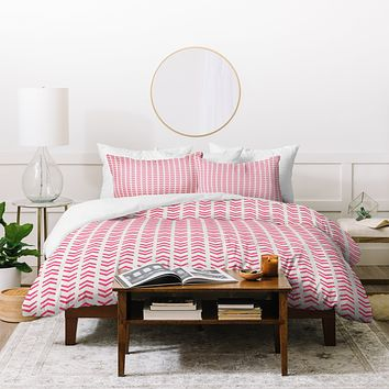 Allyson Johnson Neon Pink Duvet Cover