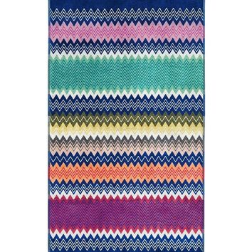 Signature Zigzag Pattern Beach Towel by Missoni
