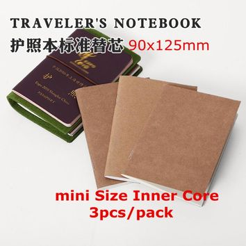 Traveler's Notebook Refill Replace Inner Core for Vintage Traveler's Notebook Handmade Journal Genuine Leather Diary mini A6 A5
