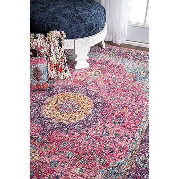 20020 Pink Distressed Persian Oriental Area Rugs