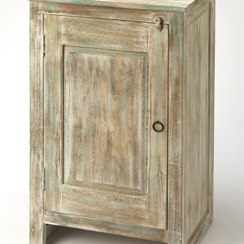 Hollister Distressed Wood Accent Cabinet