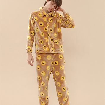 Tyakasha Park Smiley Face PJ Sleepwear Set