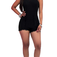 Black Lace Romper 10463