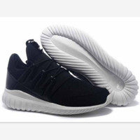 ADIDAS Fashion Flats Sneakers Sport tubular runner Shoes (3-color) Black(white soles)