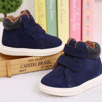 Winter Rubber Children Boots New 2018 Fashion Children Shoes For Girls Genuine Leather Boy Sneakers Sapato Infantil Kids Boots
