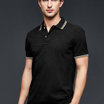 Gap Men Tipped Pique Polo