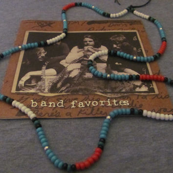 Jim Morrison-The Doors/Authentic Native American Cobra  Bead Necklace/hippie necklace/hippie jewelry/hippie bead necklace/rock n roll