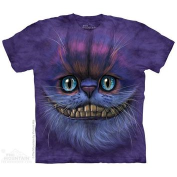 New BIG FACE CHESHIRE CAT YOUTH CHILD  T SHIRT -