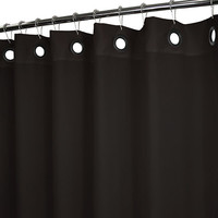 Park B. Smith® Dorset Black 72-Inch x 72-Inch Watershed® Black Grommets Shower Curtain